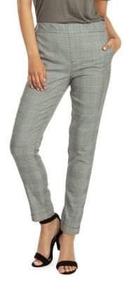 Dex Pull-On Cuffed Plaid Pants