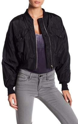 Romeo & Juliet Couture Cropped Bomber Jacket