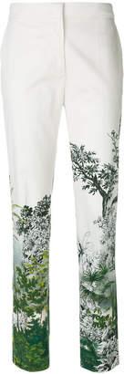 Alberta Ferretti floral print tailored trousers