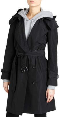 Burberry Amberford Packaway Rain Trench Coat, Black