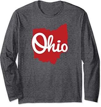 I Love My Ohio Home Script Ohio Long Sleeve Shirt