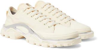 Raf Simons + Adidas Originals Detroit Runner Rubber-Trimmed Canvas Sneakers