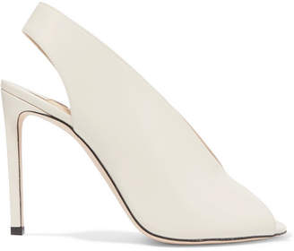 Jimmy Choo Shar 100 Glossed-leather Slingback Pumps - Ivory