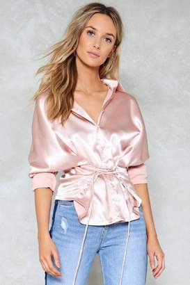 Nasty Gal Back On Track Corset Shirt
