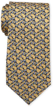 Pierre Cardin Dolphin Print Silk Tie