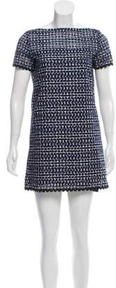 Sacai Luck Eyelet Embroidered Knit Dress