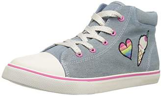 Children's Place The Girls' BG Patch Hitop Sneaker