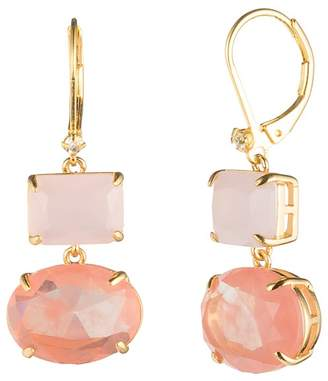 Carolee Gold Rectangle Drop Earrings