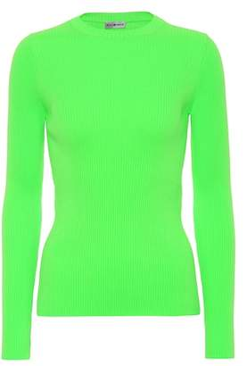 Balenciaga Neon ribbed sweater