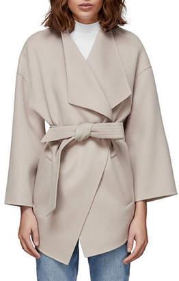 Mackage Gail Double-Face Wool Wrap Coat