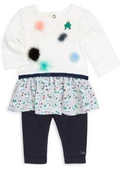 Catimini Baby Girl's Pom Pom Dress and Leggings Set
