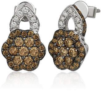 LeVian CORP Le Vian Grand Sample Sale Chocolate Diamonds & Vanilla Diamonds Earrings set in 14K Vanilla Gold
