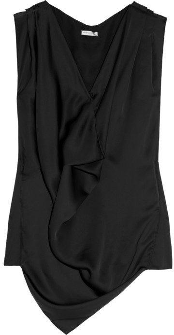 Emanuel Ungaro Draped satin top
