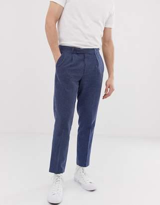 Asos Design DESIGN slim crop smart pants in indigo texture