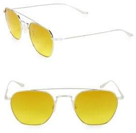 Barton Perreira Men's Doyen 52MM Aviator Sunglasses - Yellow