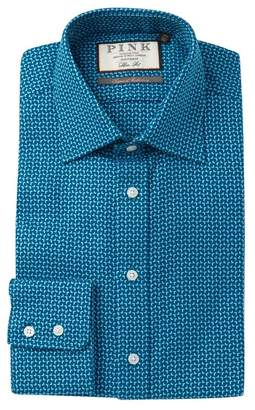 Thomas Pink Ludfor Textured Slim Fit Dress Shirt
