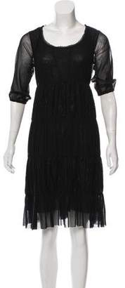 Jean Paul Gaultier Soleil Lace-Accented Midi Dress