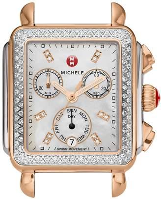 Michele Deco Diamond Diamond Dial Watch Case, 33mm x 35mm