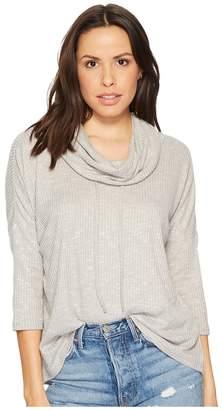 BB Dakota Corray Rib Knit Scrunched Neck Top Women's Clothing