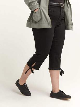 Slightly Curvy High-Waisted Slim Leg Capri Jeans - d/C JEANS