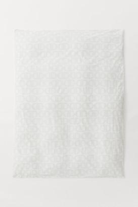 H&M Cotton Satin Duvet Cover