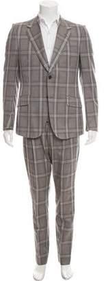 Gucci Mohair Blend Plaid Two-Piece Suit