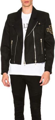 Balmain Denim Biker Jacket