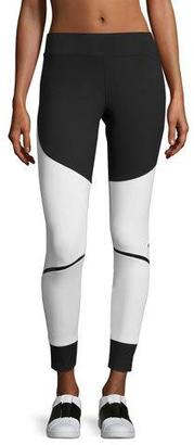 adidas by Stella McCartney Train Compression Tights, Black/White $85 thestylecure.com