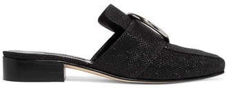 DORATEYMUR - Petrol Glittered Canvas Slippers - Black