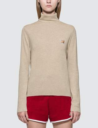 MAISON KITSUNÉ Turtleneck Fox Head Patch Sweater
