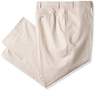 Cubavera Men's Big and Tall Linen-Cotton Herringbone-Textured Pant