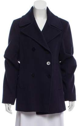 Fleurette Double-Breasted Wool Peacoat