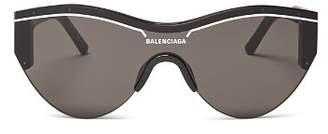 Balenciaga Women's Cat Eye Shield Sunglasses, 99mm