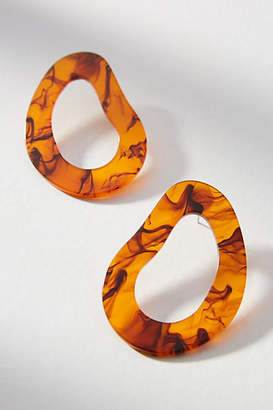 Amber Sceats Rio Resin Hooped Post Earrings