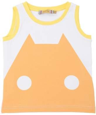 Printed Cotton Jersey Sleeveless T-Shirt
