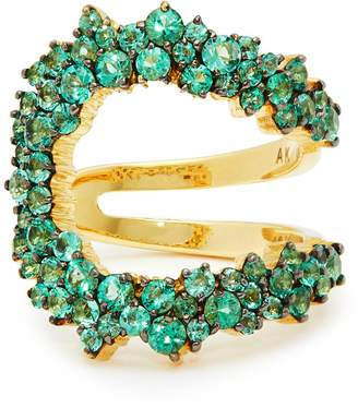 A.N.A KHOURI Mirian 18kt gold and emerald ring