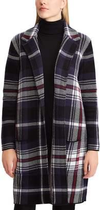 Chaps Women's Plaid Jacquard Sweater Jacket