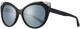 Cat Eye Alain Mikli Leala Mirrored Cat-Eye Sunglasses
