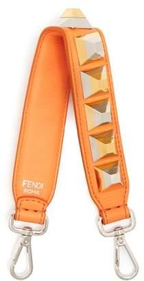 Fendi Strap You Mini Stud Embellished Leather Bag Strap - Womens - Orange