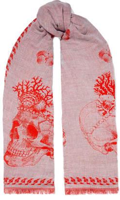 Alexander McQueen Sea Queen Cotton-blend Jacquard Scarf - Pink