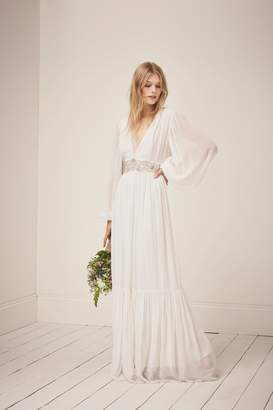 French Connenction Cari Sparkle Maxi Wedding Dress