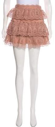 Self-Portrait Crocheted Mini Skirt