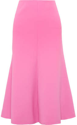 Awake Fluted Crepe Midi Skirt - Pink