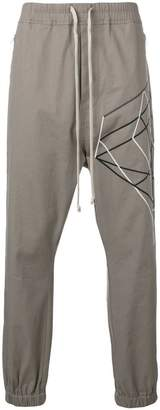 Rick Owens embroidered graphic joggers