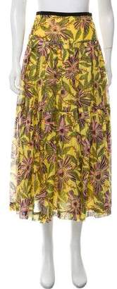 RED Valentino Printed Pleated Skirt