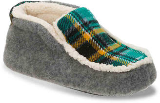 Dearfoams Felt & Plaid Toddler & Youth Boot Slipper - Boy's