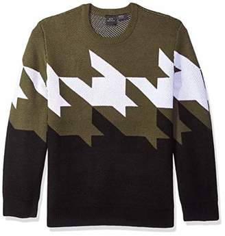 Armani Exchange A|X Men's Zoom Houndstooth Sweater