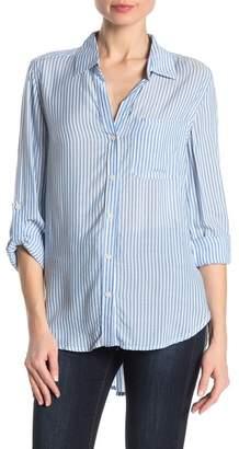 Velvet Heart Striped Hi-Lo Button Down Shirt