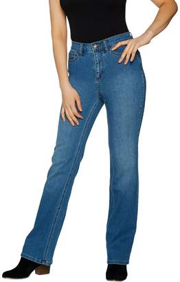 Denim & Co. Studio by Petite Classic Denim Slightly Bootcut Jeans