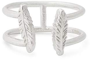 Alex and Ani Feather Adjustable Ring